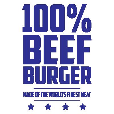 100% Beef Burger
